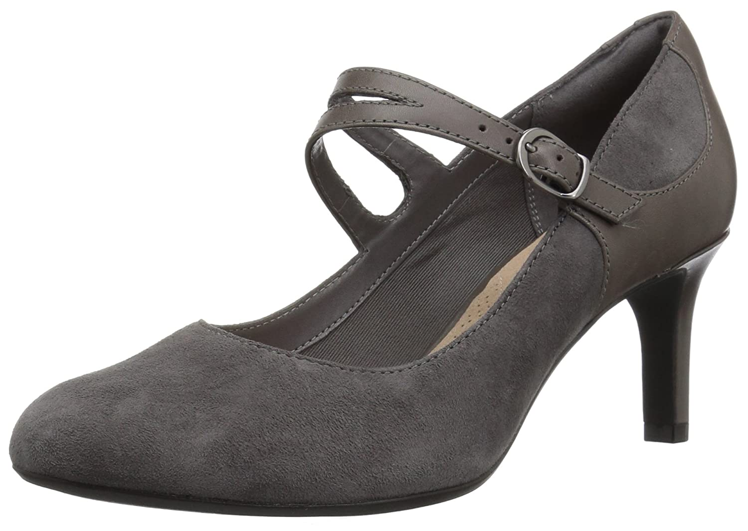 Grey Suede Clarks Women's Dancer Reece Stiletto
