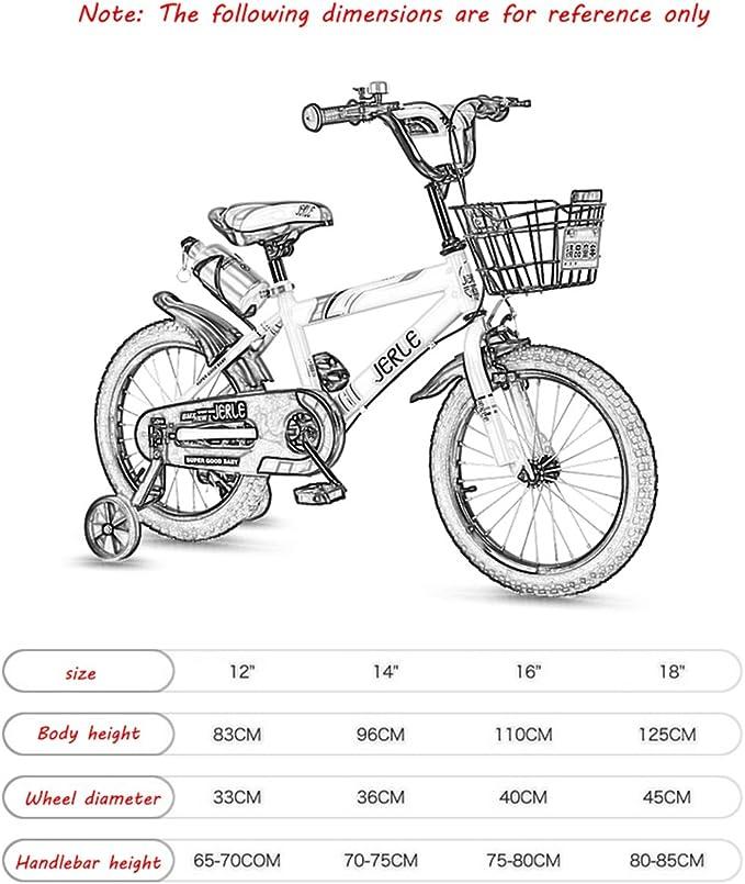 CivilWeaEU- Bicicleta para niños, bebé 2-3-4-6 años de Edad niño ...