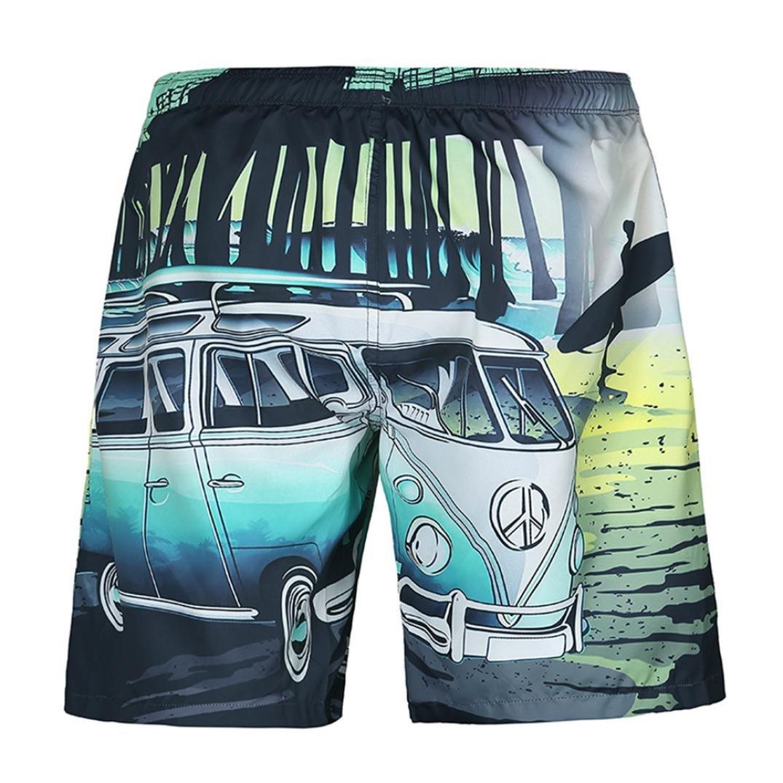 iOPQO Shorts for Men, Fashion Summer Casual Plus Size Print Beach Shorts Pants