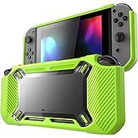 Mumba Nintendo Interruptor Case, [Heavy Duty] Slim goma [Fijación a Presión] Hard Case Cover for Nintendo Switch 2017liberación, Verde