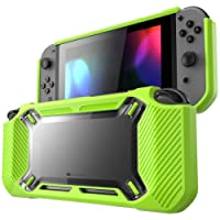 Mumba case for Nintendo Switch, [Heavy Duty] Slim Rubberized [Snap on] Hard Case Cover for Nintendo Switch 2017 release (Green)