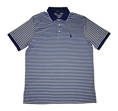 03dc842e99399 Image Unavailable. Image not available for. Color: Polo Ralph Lauren Mens  Classic Fit Pony Logo Striped Polo Shirt (Blue, Small)