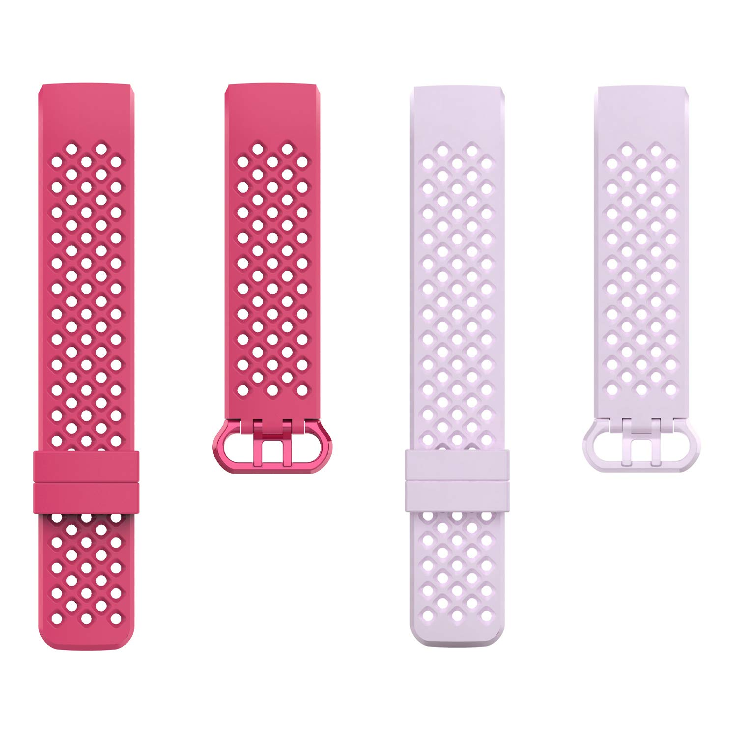 adepoy Compatible with Fitbit Charge 3 Bands for Women Men Large Small Breathable with Air Holes Replacement Wristbands for Fitbit Charge 3 and Fitbit Charge 3 SE