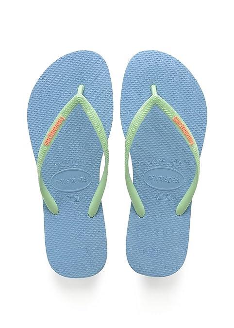 Zapatos azules Havaianas Slim Logo para mujer zpePol1hR