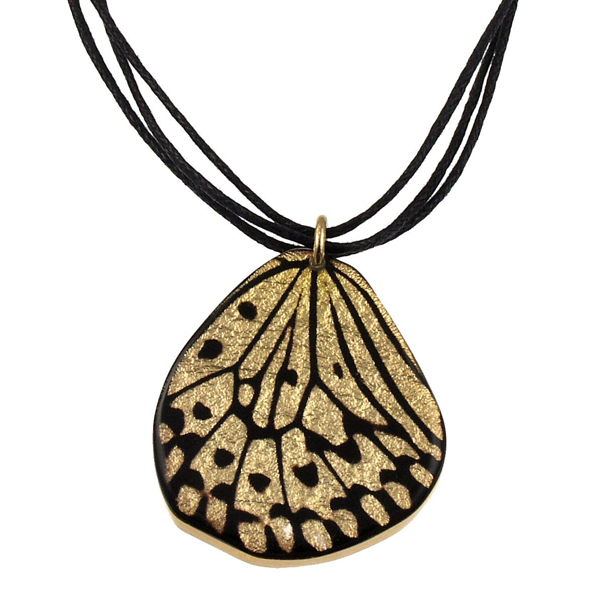 Small 1//12 Gold Fritillary Butterfly Wing on Cord