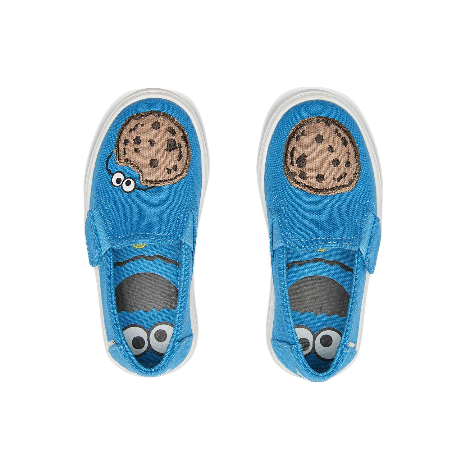 TOMS Sesame Street X Cookie Monster Applique Tiny Luca Slip-Ons 10013646 (Size: 9) Blue by TOMS (Image #3)