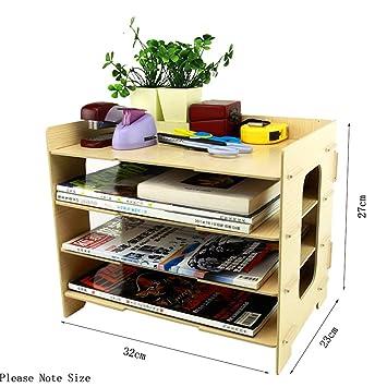 bao Core DIY de madera Home Office Suministros Gabinete de almacenamiento Caja revistero Escritorio Carta Bandejas