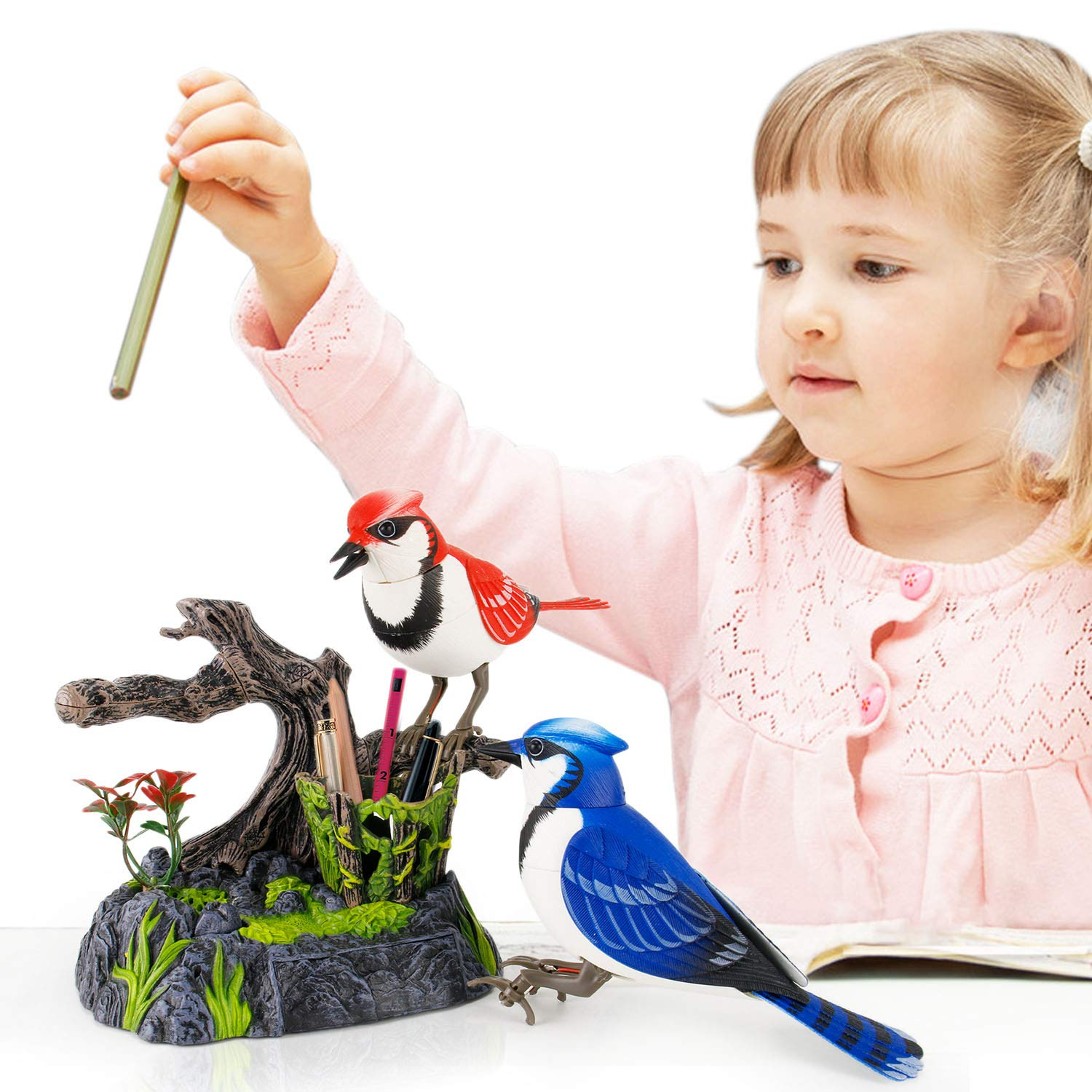 Liberty Imports Singing and Chirping Birds - Realistic Sounds and Movements (Blue Jays) by Liberty Imports (Image #5)