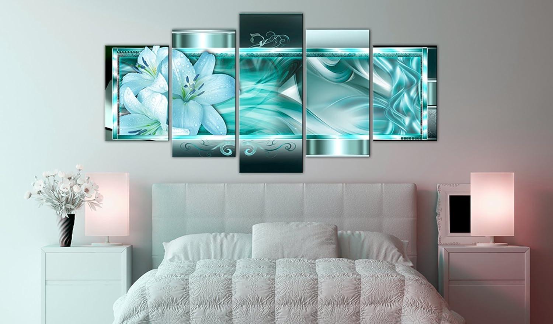 Murando Bilder - Acrylglasbild Abstrakt 100x50 cm - Bilder Murando Wandbild - modern - Decoration 5 Teilig - Blumen a-C-0069-k-m 5ef09d