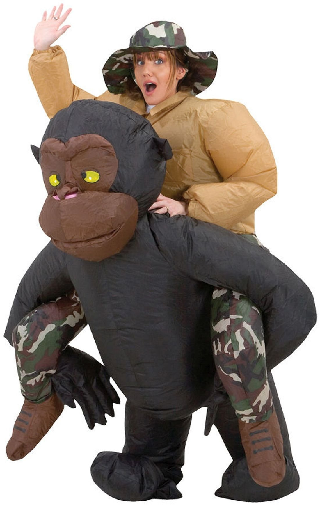 Inflatable Riding Gorilla Costumes Animal Themed Halloween Cosplay Costumes