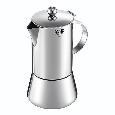 Kuhn Rikon Juliette - Cafetera espresso para inducción, 6 tazas