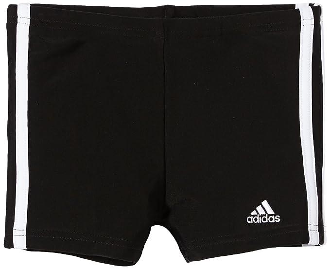 Adidas Jungen 3 Stripes Badehose Schwarz Weiß