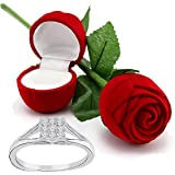 I Jewels Hamper of Sterling Silver Ring with Red Rose Gift Box for Girlfriend/Gift for Her/Gift for Valentine/Gift for Girl (S001-FL41CO)