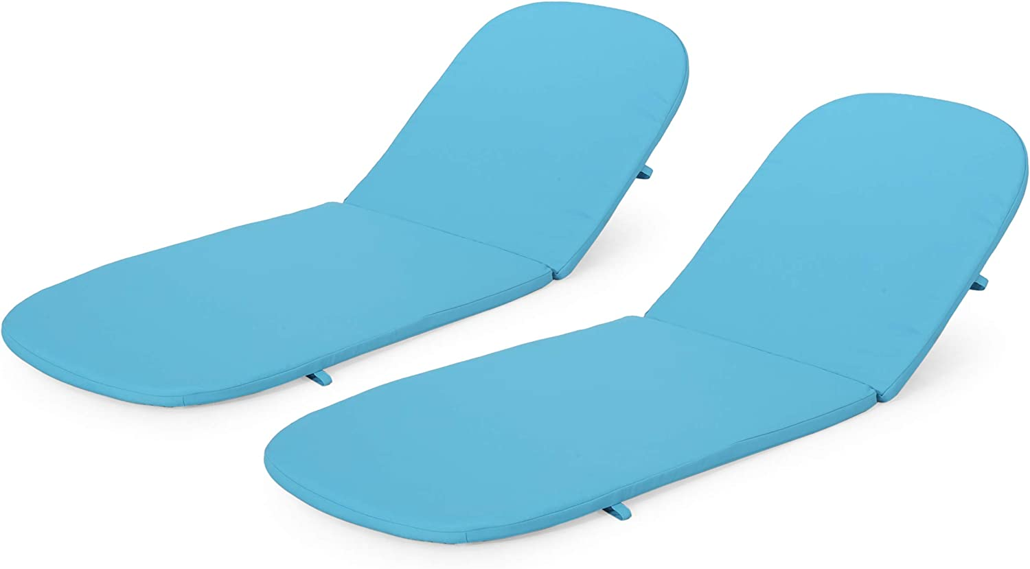 Caspar Outdoor Water Resistant Chaise Lounge Cushions (Set of 2), Blue