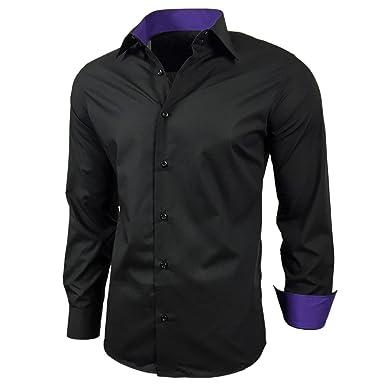 Camisa, estilo elegante, polo, corte ajustado, talla S M L XL XXL R-44: Amazon.es: Ropa y accesorios