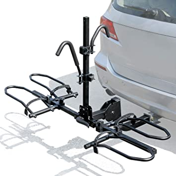 4 Bike Rack Hitch Mount Foldable Car Truck SUV Trailer Rear Bicycle Carrier