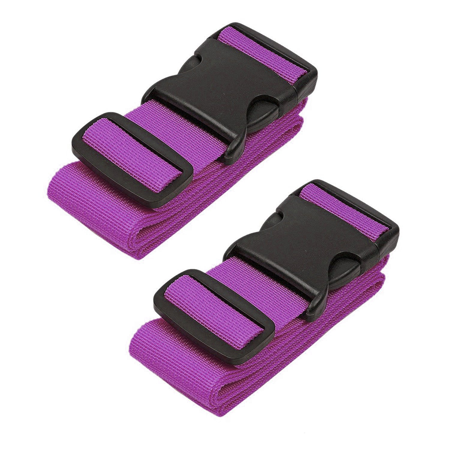 SunTrade 2 Pack Adjustable Travel Luggage Packing Belt,Suitcase Strap(Purple) by Sun-trade (Image #1)
