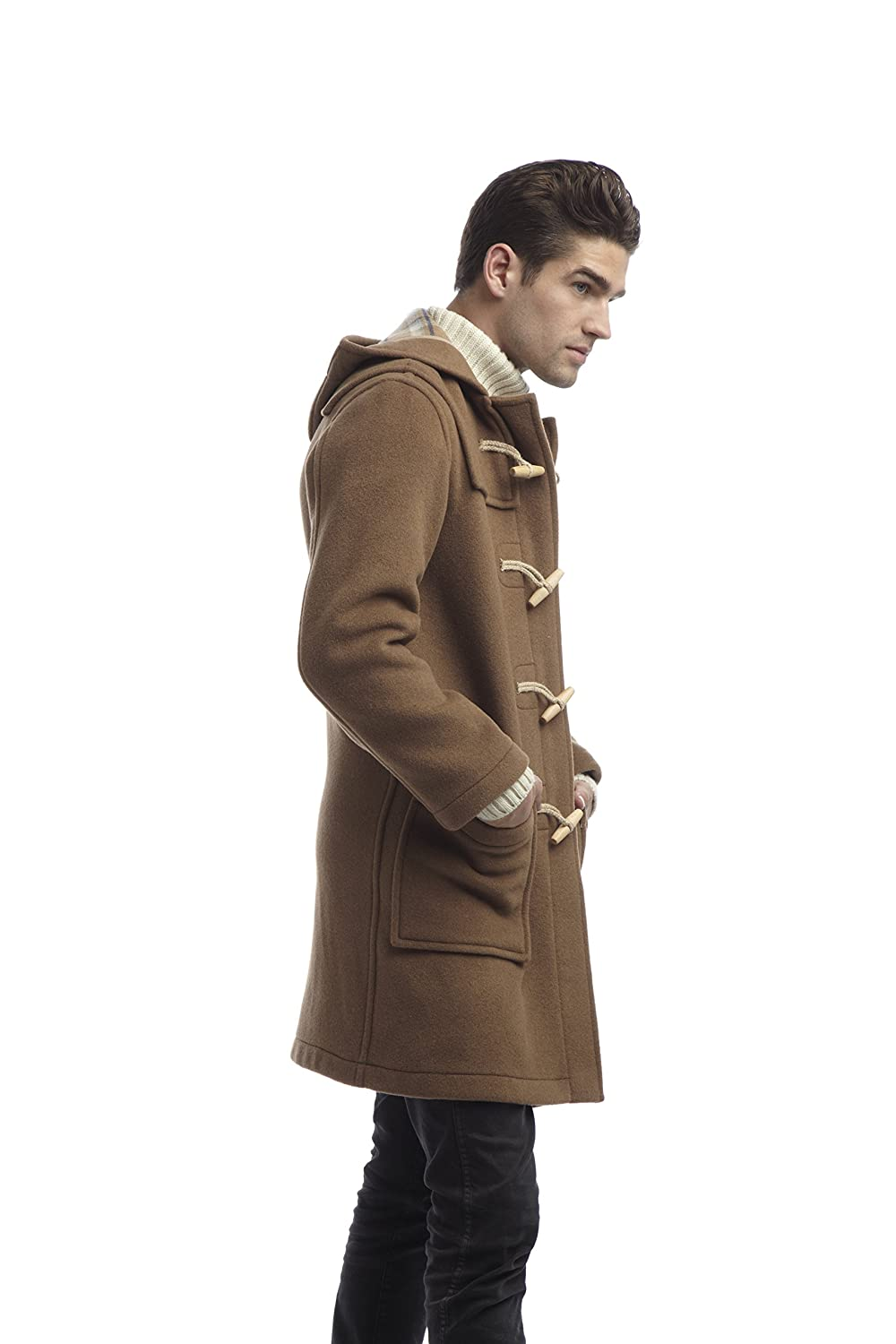 Original Montgomery Mens Wooden Toggles Duffle Coat at Amazon ...