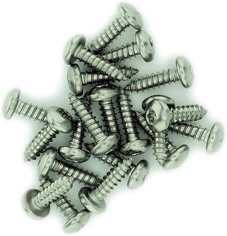 4 x 0,25 Edelstahl Nr TX-Blechschraube 20 St/ück A2 2,9 mm x 6,5 mm