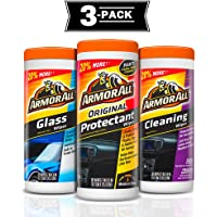 3-Pack Armor All Protectant Glass and Cleaning Wipes