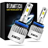 BEAMTECH H11 LED Headlight Bulbs, 6500K 8000 Lumens Extremely Super Bright H8 H9 CSP Chips Conversion Kit,Xenon White