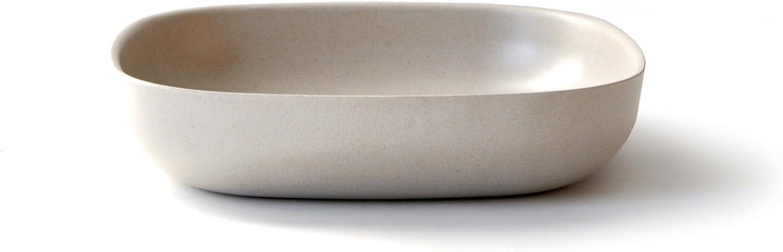 21 x 21 cm FSC-zertifiziert naturwei/ß auch f/ür Salate aus Bambus // Melamin EKOBO Gusto Pastateller BPA-frei sp/ülmaschinengeeignet