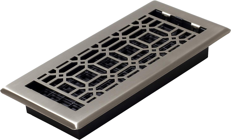Decor Grates NGH410-NKL Floor Register, 4 x 10, Plated Nickel