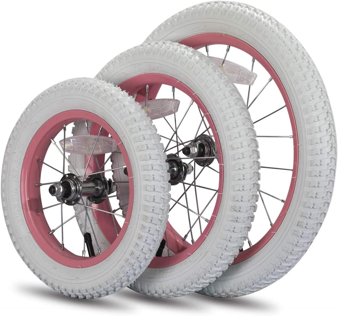 JoyStar Kids Bike Front Wheels Replacement with Air Rubber Tire 12 14 16 Inch