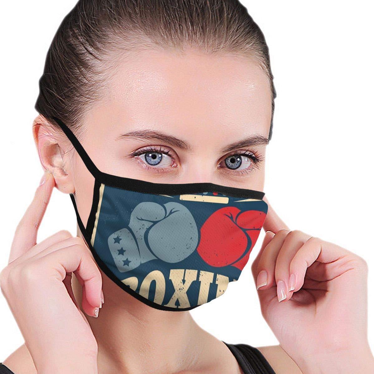 Vector Vintage Póster para boxeo con guantes Unisex ajustable lavable máscara bucal – Máscara antipolvo antipolvo