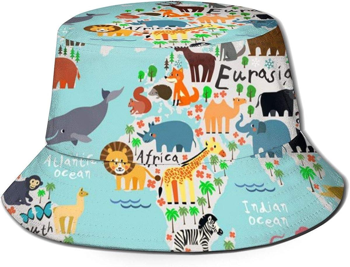 Animal Map World Bucket Hat...