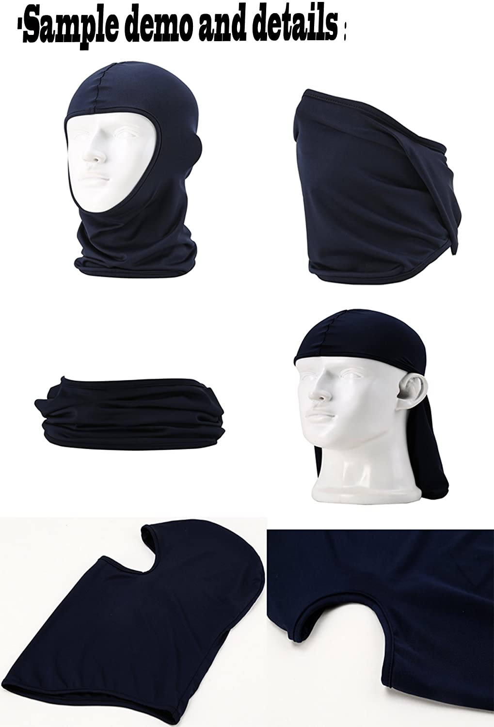 Women Men Thermal Swat Ski Winter Balaclava Hood Stopper Face Mask for Skullies Beanies Outdoor Sports Windproof Hat (Black) at  Men's Clothing store