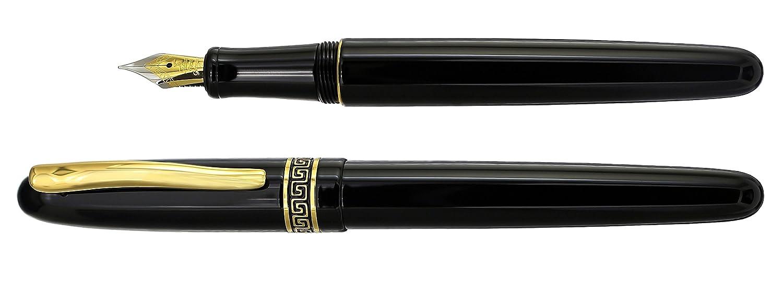 Phantom Classic Black F nero con cappuccio a vite Limited Edition Xezo fine penna stilografica