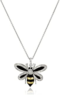 Amazoncom Wing Bumble Bee Pendant Necklace Gold Bee Jewelry Jewelry