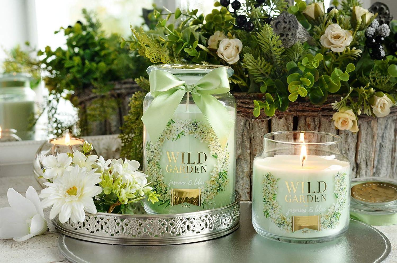PAMA GROUP Vela perfumada decorativa jarra de cristal pequeño Home perfume a rosa dulce larga duración idea regalo ceremonia bombonera aromaterapia Candle Spa: Amazon.es: Iluminación