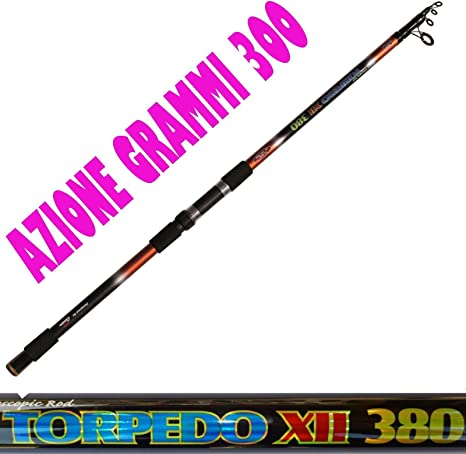 Caña Pesca grongo Siluro AZ. 300 gr. MT 3,80 Pesca a Fondo