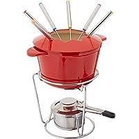 Cuisinart FP-115RS Juego de fondue, hierro fundido, 13 piezas, Rojo, 25.4 cm, 1