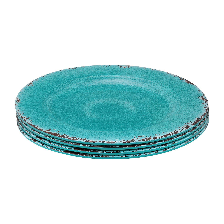Gourmet Art 12-Piece Beaded Melamine Dinnerware Set