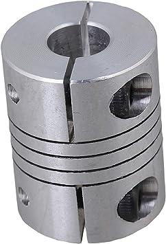 "4 CNC 1//4/"" Motor Shaft to 1//2/"" ACME SCREW Flexible Coupler HD"