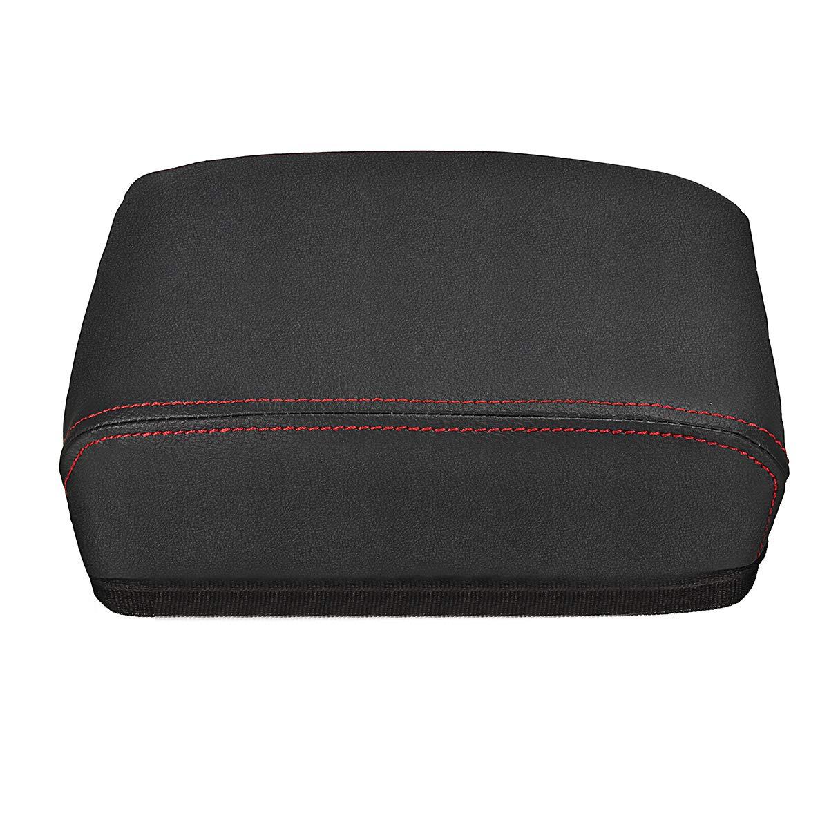 Colorido Borde AAlamor PU Cuero Coche Reposabrazos Asiento Caja Reposabrazos Tapa para VW Tiguan Mk2 2016-2018