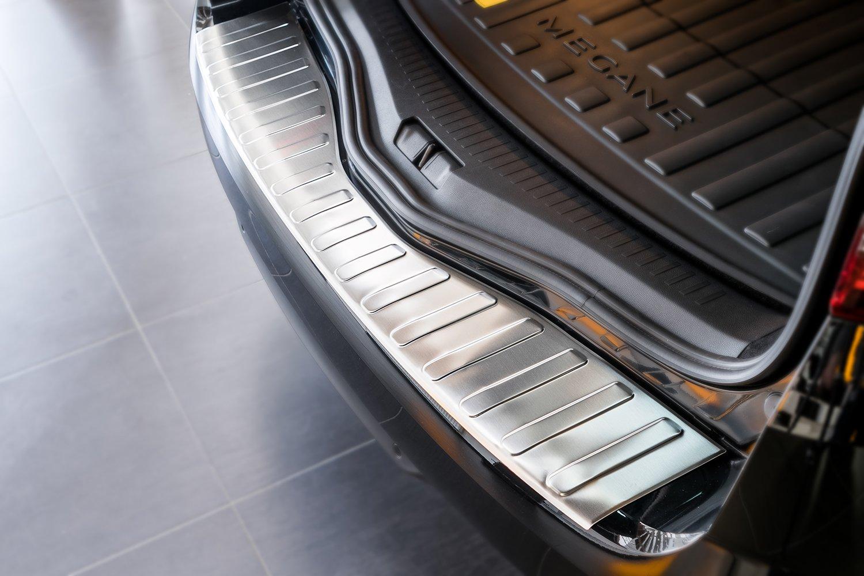 tuning-art L238 Protection de seuil de Coffre de Chargement en Acier Inoxydable avec Profil 3D et Bord Arrondi