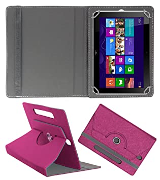 Acm Designer Rotating Case for Hp Elite Pad 900 G1 Stand Cover Dark Pink Tablet Accessories