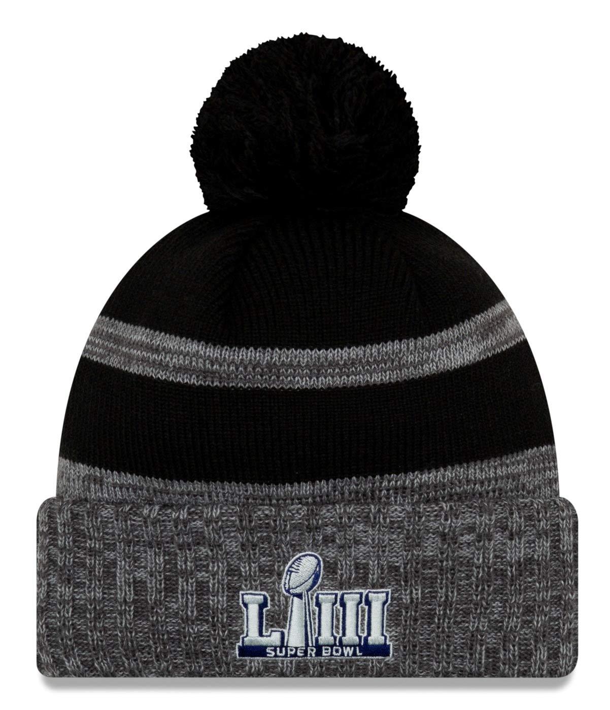 9bc7aaa76 Amazon.com   New Era New England Patriots Super Bowl LIII Champions Parade Knit  Hat - Heather Charcoal   Sports   Outdoors
