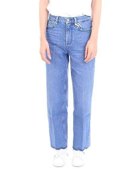 Tommy Hilfiger WW0WW24451 Pantalones Vaqueros Mujer: Amazon ...