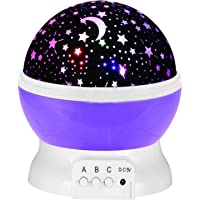 Excellent 3 Modes LED Night Lights Stars Lighting Lamp,Rotation Night Projection Lamp Kids Bedroom Bed Lamp