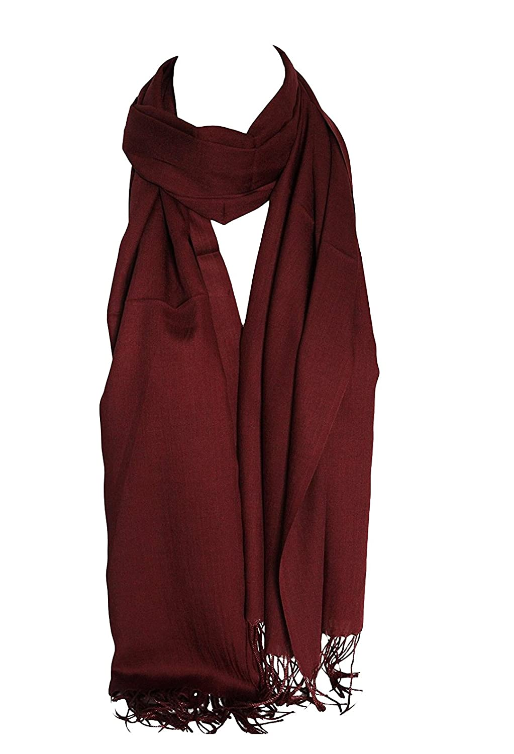 Plain Super Soft Feel Egyptian Cotton Scarves Shawl Stole Wrap Hijab Scarf (Maroon) Other