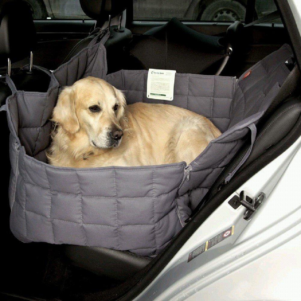 Doctor Bark 104211-200 Couverture de voiture pour chien Gris Taille S Env. 70 x 50 x 40 cm