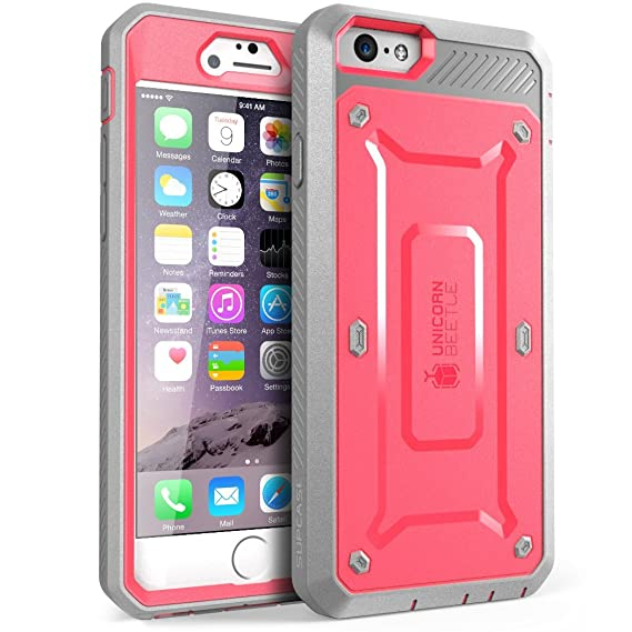 brand new 075b3 b2962 SUPCASE [Unicorn Beetle Pro Series] Case Designed for Apple iPhone 6 Plus  5.5 Inch display w/ Built-in Screen Protector (Green)
