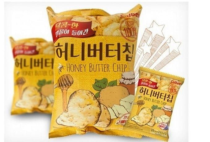 Amazon Com 3 Pcs Honey Butter Chip New Korea Potato Snack 60g X 3 Grocery Gourmet Food