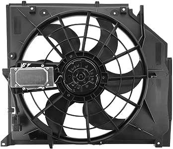 Topaz 17111436260 enfriador Ventilador Motor de ventilador enfriamiento 17111436260 para E46 E46: Amazon.es: Coche y moto
