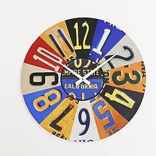 product image for Surf To Summit License Plate Clock Plasma Cut Aluminum USA License Plate Sign Vintage Decor Garage Art Car Tag Plates Wall Art Custom Metal Housewarming Art Garage Clock